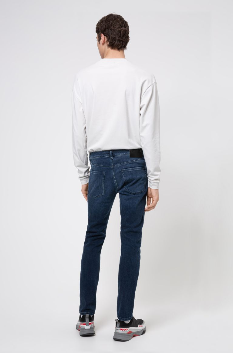 Jeans skinny fit in denim elasticizzato blu medio Buzzitta Stile